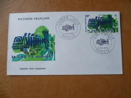 POLYNESIE FRANCAISE FDC POSTE  N° 105  PROTECTION DE LA NATURE  ECOLOGIE POISSON  FISH - FDC