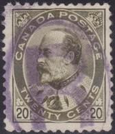 Canada      .   SG  .       186        .        O      .   Cancelled       .   /    .   Gebruikt - 1903-1908 Reign Of Edward VII