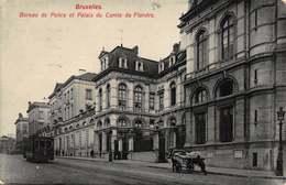 Brussel Bruxelles   Bureau De Police Et Palais Du Comte De Flandre   Politiekantoor Politie Bureau  Tram          I 6047 - Avenues, Boulevards