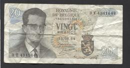België Belgique Belgium 15 06 1964 -  20 Francs Atomium Baudouin. 3 T 4341648 - 20 Francs