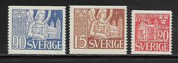 SUEDE  ( EUSU - 352 )  1946  N° YVERT ET TELLIER  N°  319/321  N* - Schweden