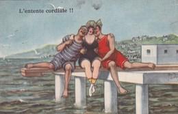 Carte Humouristique, L'entente Cordiale, Edit L&P, Beigneuses (pk60219) - Illustrateurs & Photographes