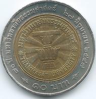 Thailand - Bhumibol - BE2547 (2004) - 10 Baht - 70th Anniversary Of Thammasat University - KMY410 - ๒๕๔๗ - Thailand