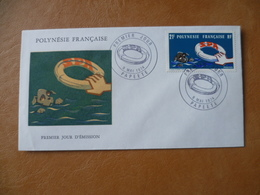 POLYNESIE FRANCAISE FDC POSTE  N° 96  SPA  CHIEN DOG  BOUEE DE SAUVETAGE - FDC