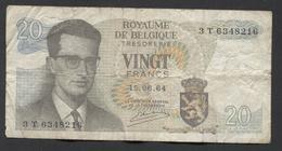 België Belgique Belgium 15 06 1964 -  20 Francs Atomium Baudouin. 3 T 6348216 - [ 6] Treasury