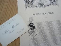 Alfred BOUCHER Cdv - Autographes