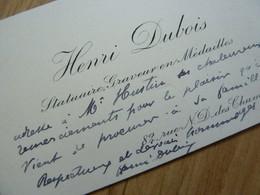 Henri DUBOIS Cdv - Autographes