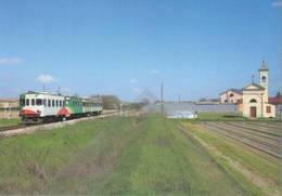 601 ALn 668.612 Fiat Brescello Reggio Emilia Rairoad Treain Railweys Treni Rotabili - Gares - Avec Trains