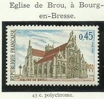 FRANCE - 1969 - ÉGLISE DE BROU BOURG-EN-BRESSE - YT N° 1582 - TIMBRE NEUF** - France