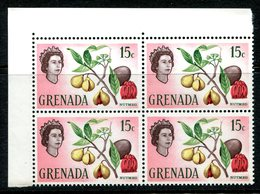 Grenada 1966 Pictorial Definitive - 15c Nutmeg Block Of 4 MNH (SG 239) - Grenada (...-1974)