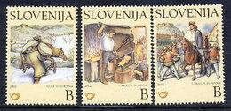 SLOVENIA 2002 Children's Book Illustrations MNH / **.  Michel 386-88 - Slowenien