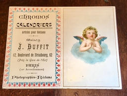 Paris Chromos Calendrier Maison Duffit 1902 1903 Angelot - Calendars