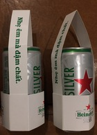 Vietnam Viet Nam Heineken Empty 250ml FREE GIFT Beer Can With Original Paper Pack - Limit Edition / Opened At Bottom - Dosen