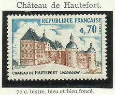 FRANCE - 1969 - CHÂTEAU DE HAUTEFORT - YT N° 1596 - TIMBRE NEUF** - France