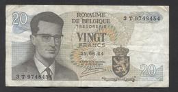 België Belgique Belgium 15 06 1964 -  20 Francs Atomium Baudouin. 3 T 9748454 - [ 6] Treasury