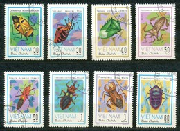VIETNAM - Mi.Nr.   1258 - 1265 N -  Gestempelt   Schädliche Insekten. - Vietnam