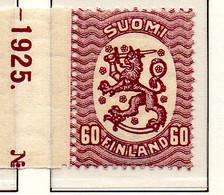 PIA - FINLANDIA - 1925-29  : Uso Corrente - Stemma  (Yv 114) - Unused Stamps
