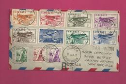 Lettre Recommandée De 1947 Pour Les EUAN - YT N° PA 1 à 10 - Série Complète - Cameroun (1915-1959)