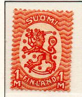 PIA - FINLANDIA - 1925-29  : Uso Corrente - Stemma  (Yv 115) - 1856-1917 Amministrazione Russa