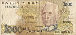 Billets - Brésil - 1000 Cruzeiros - Usagé - - Brazil