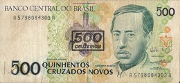 Billets - Brésil - 500 Cruzeiros - Usagé - - Brazil