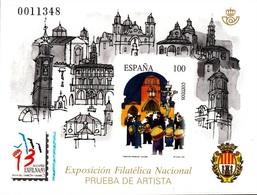 PRUEBA OFICIAL Nº 29 (EDIFIL) EXPOSICION FILATELICA NACIONAL ALCAÑIZ'93 - OFERTA POR LIQUIDACION - Hojas Conmemorativas