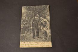 Carte Postale 1905 Couple Trempé Par La Pluie - Humour