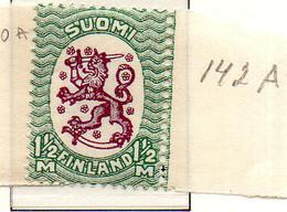 PIA - FINLANDIA - 1928-29  : Uso Corrente - Stemma  (Yv 128) - Unused Stamps