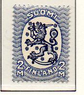 PIA - FINLANDIA - 1928-29  : Uso Corrente - Stemma  (Yv 129) - Unused Stamps