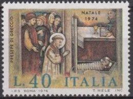 1974 - NATALE -  Nuovo Con Gomma Integra / Mint NH - 6. 1946-.. Repubblica