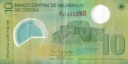 Billets - Nicaragua  - 10 Cordobas - 2012 - Circulé - - Nicaragua