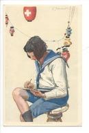 N67 - Fête Nationale Bundesfeier 1925  Carte N°43 Neuve Eclaireuse, Scout, Lampion - Suisse