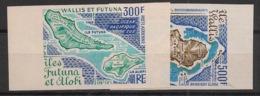 Wallis Et Futuna - 1978 - PA N°Yv. 80 à 81 - Carte De L'ile - Non Dentelé / Imperf. - Neuf Luxe ** / MNH / Postfrisch - Ongebruikt