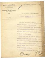 Courrier (1925) De L'inspecteur Des Eaux Et Forêts à Fontainebleau, à Propos De L'évaluation De La Forêt - Historical Documents