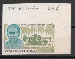 Wallis Et Futuna - 1981 - N°Yv. 275 - Thomas Edison - Essai De Couleur ND - Neuf Luxe ** / MNH / Postfrisch - Wallis And Futuna