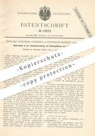 Original Patent - Edward Stephens Copeman , Downham Market , England , 1882 , Rettungsfloß Aus Sitzbänken | Floss , Floß - Historische Dokumente