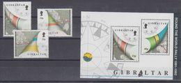 Gibraltar 1992 Round The World Rally  3v + M/s  ** Mnh (42626) - Gibraltar