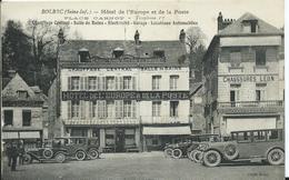 BOLBEC - Hôtel De L'europe Et La Poste ( Véhicules Anciens ) - Bolbec