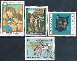 Ajman 1969  -  Michel  284 + 320 + 412 + 488    ( Usados ) - Ajman