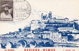 4 Juillet 1953 Cinquantenaire Du Tour De France Cyclisme   Béziers Nimes - Wielrennen