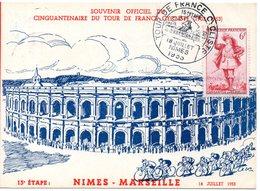 4 Juillet 1953 Cinquantenaire Du Tour De France Cyclisme    Nimes Marseille - Wielrennen