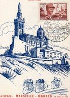 4 Juillet 1953 Cinquantenaire Du Tour De France Cyclisme    Marseille Monaco - Wielrennen