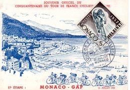 4 Juillet 1953 Cinquantenaire Du Tour De France Cyclisme     Monaco Gap - Wielrennen