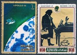 Ajman 1971  -  Michel   286 + 799    ( Usados ) - Ajman