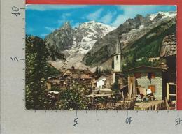 CARTOLINA VG ITALIA - COURMAYEUR (AO) - Entreves - Scorcio Panoramico - 10 X 15 - ANN. 1967 TASSATA - Italia