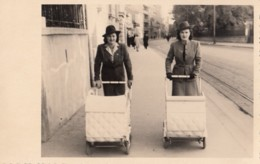 Zagreb - Street Scene , Women W Baby Cart Real Photo Postcard 1941 - Croatia