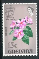 Grenada 1968 Definitives - 15c Thunbergia MNH (SG 314a) - Grenada (...-1974)