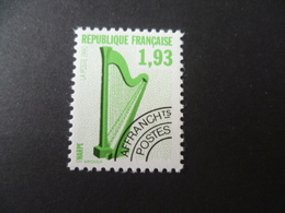 FRANCE  PREOBLITERE N° 210 NEUF **  MNH  INSTRUMENT  MUSIQUE  HARPE - Precancels
