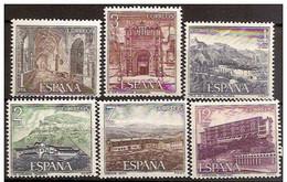 España 1976 Edifil 2334/9 Sellos ** Serie Turistica Paradores Nacionales Hostal San Marcos Leon, Parador De Las Cañadas - 1931-Hoy: 2ª República - ... Juan Carlos I