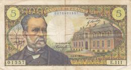 Billet 5 F Pasteur Du 5-5-1966 FAY 61.01 Alph. Y.8 1ère DATE D'ÉMISSION - 1962-1997 ''Francs''